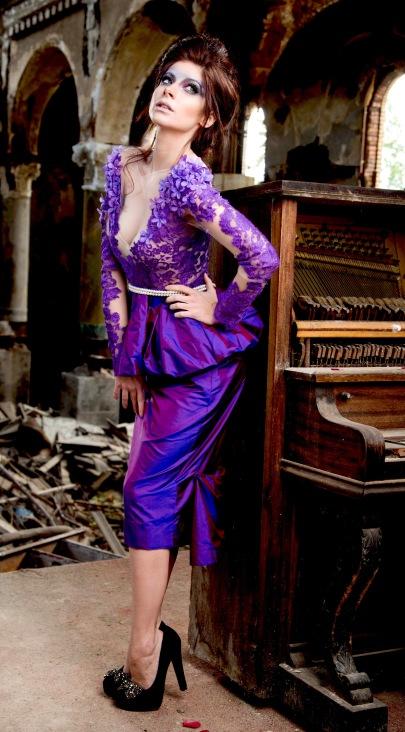 Lucio Vanni Cocktail Dress - Purple