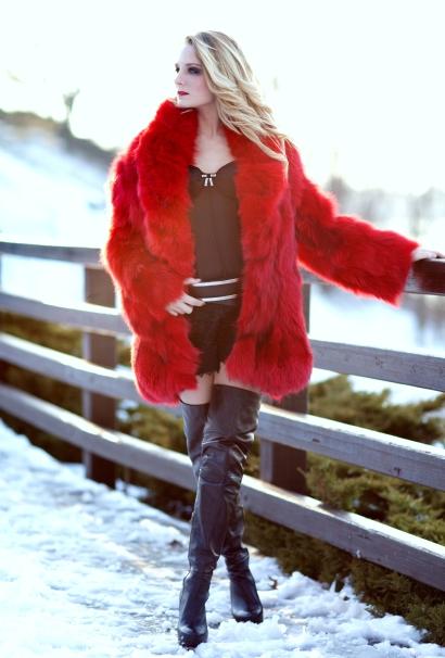 Lucio Vanni Red Fur Coat