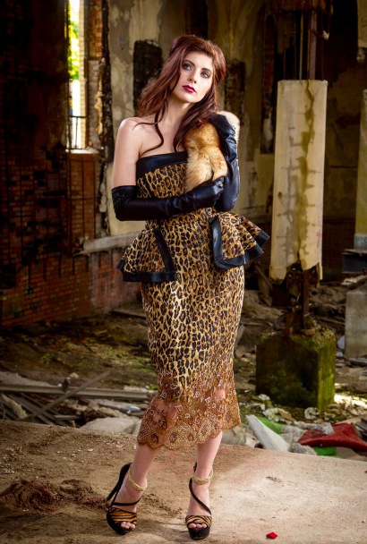 Lucio Vanni Cocktail Dress - Leopard Print